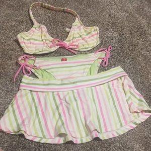 3 pc Esprit bikini set. Top M. Bottom & Skirt L